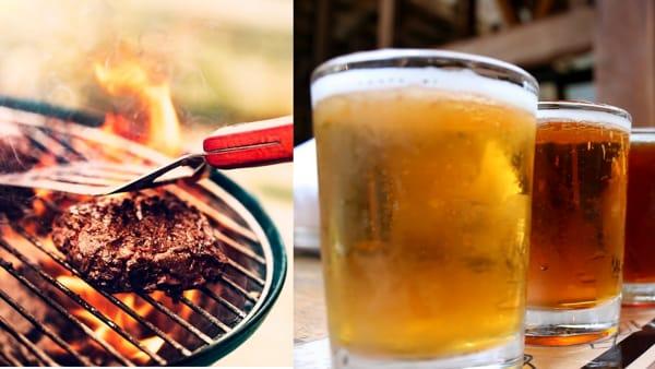 Carne e birra in piazza Battisti