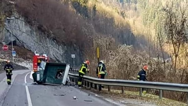 Un'immagine dell'incidente, foto: Polizia Locale
