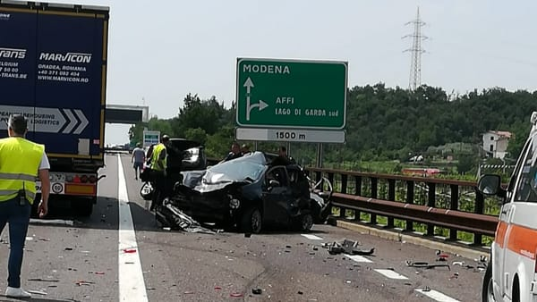 Maxi-incidente in A22: un morto, nove feriti. Autostrada e statali in tilt