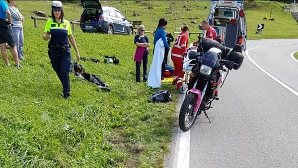 Un'immagine dell'incidente a Fiavè