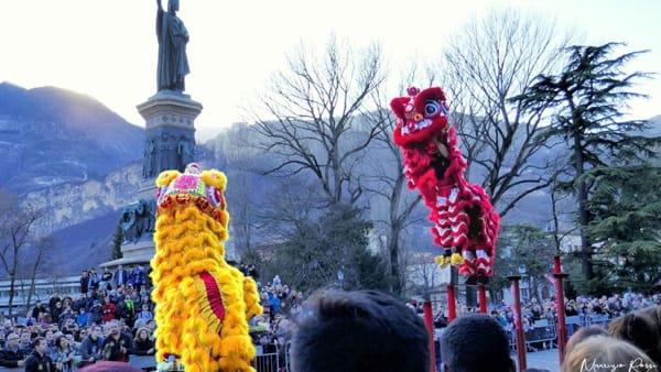 Capodanno cinese in piazza Dante a Trento